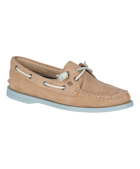 1b11267f06f Sperry Top-Sider Linen   Blue Authentic Original Vida Leather Boat ...