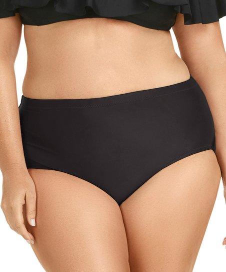 6b2512fcfd6 Raisins Curve Black St. Vincent High-Waist Bikini Bottoms - Plus ...