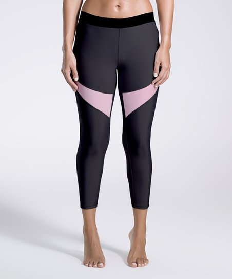 cf1436ac1812b love this product Black & Pink Contrast Leggings - Women