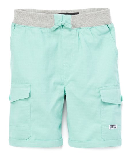 9756694b15 Beverly Hills Polo Club Mint Green Ripstop Cargo Shorts - Boys | Zulily