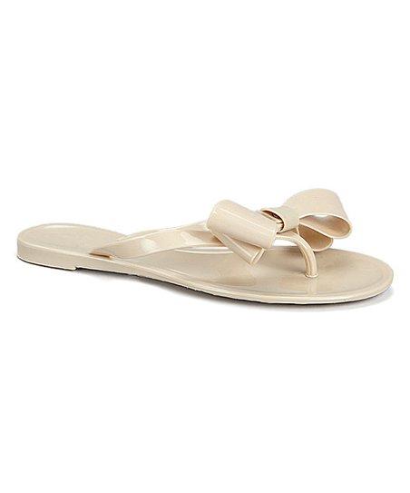 6a1d25c74de79a Capelli New York Nude Bow Jelly Flip-Flop - Women