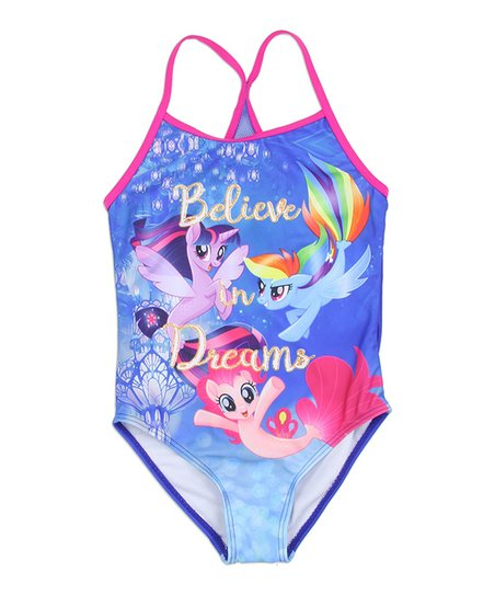 6190f643c My Little Pony Purple   Pink Believe in Dreams One-Piece - Girls ...