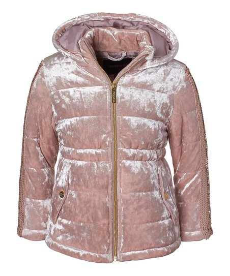 Limited Too girls Crushed Velvet Anorak With Sequins