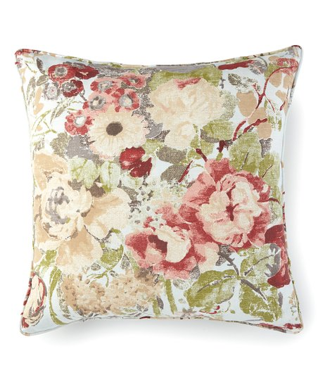 love this product Red   Green Floral Lorraine Throw Pillow 12f3c0028