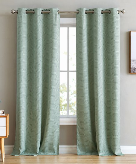 HLC ME Mint Green Blackout Curtain Panel - Set of Two