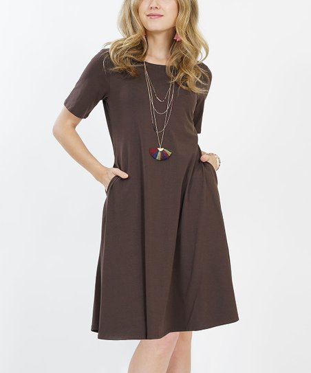 d85b65fc8 love this product Americano Short-Sleeve Two-Pocket A-Line Dress - Women &  Plus