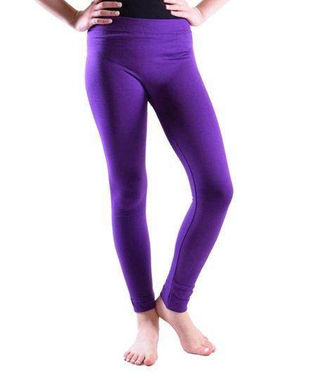 df1fc9fad099f Dinamit Jeans Plum Fleece-Lined Leggings - Toddler | Zulily