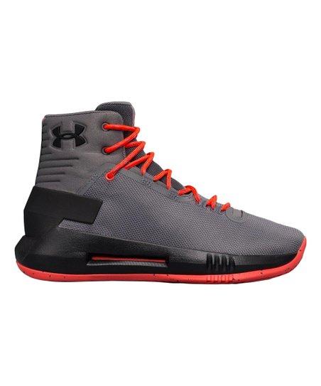 84287f43442 Under Armour® Graphite Grade School Drive 4 Basketball Shoe - Boys ...