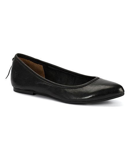 33d0704a9ba Frye Black Regina Leather Ballet Flat - Women