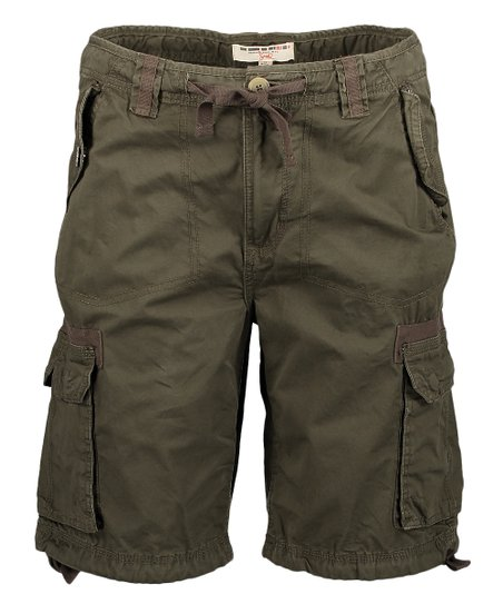 db75b25437 Triple Five Soul Dark Green Verte Fonce Cargo Shorts - Men | Zulily