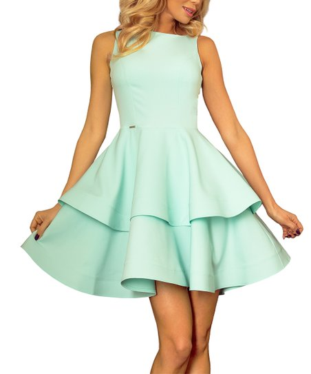 f901620863de love this product Mint Layered Fit   Flare Sleeveless Dress