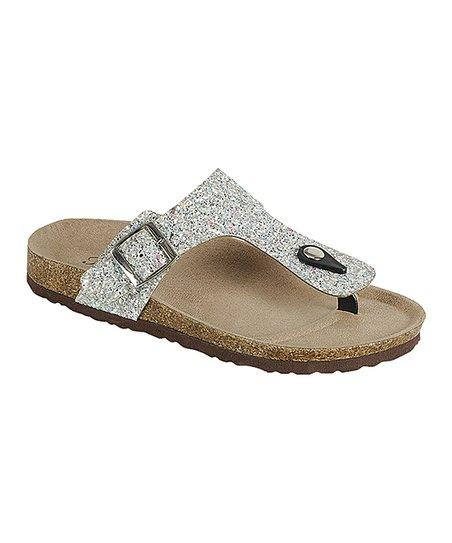 0ac754590e55f4 love this product Silver T-Strap Glitter Sandal - Women