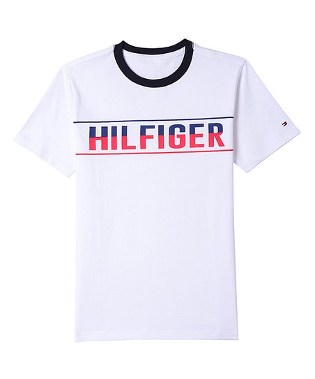 aef76c0e Tommy Hilfiger White Logo Ringer Tee - Boys | Zulily