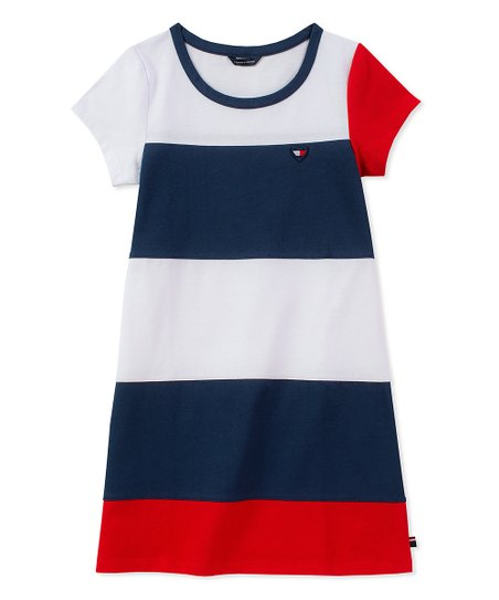 ab72e880436 Tommy Hilfiger Flag Blue Color Block T-Shirt Dress - Girls