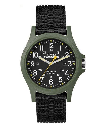 479d2bdbe6c9 Timex Black   Army Green Expedition Analog Core Camper NATO-Strap ...