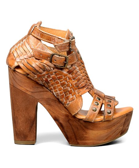 645f503e508 love this product Tan Rustic White Cindy Leather Sandal - Women