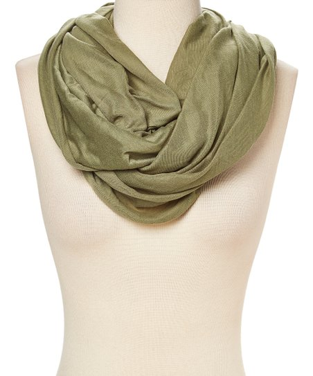 e9cecc4509c30 Tickled Pink Olive Green Everyday Infinity Scarf   Zulily