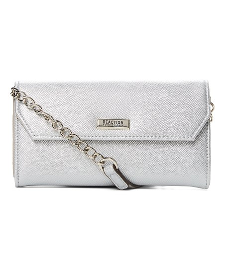 427c71585 Kenneth Cole Reaction Silver Liza Crossbody Wallet | Zulily