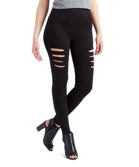 7c91e2376c66b Tantrum Ink Black Side Cutout Leggings - Women   Zulily