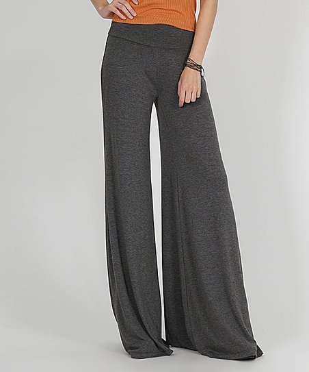 552264c4753e3e love this product Charcoal Tall Palazzo Pants - Women