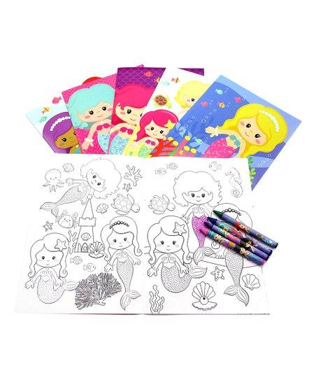 Baseline Global Mermaids Coloring Book & Crayons | zulily