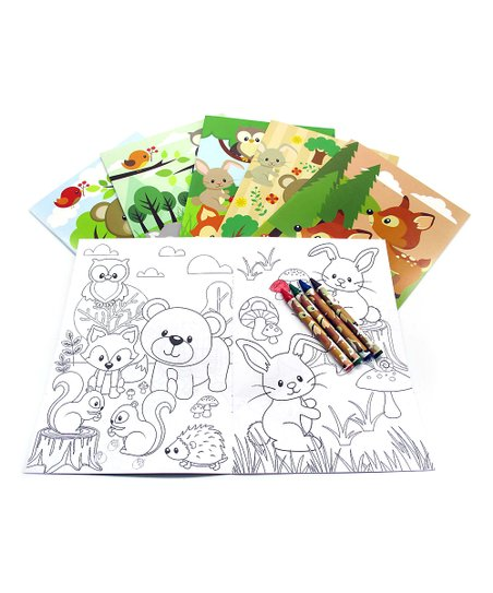 Baseline Global Woodland Animals Coloring Book & Crayons | Zulily