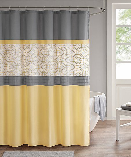 Love This Product Yellow Gray Donnell Shower Curtain