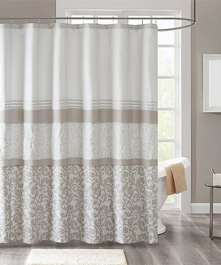 Love This Product Neutral Ramsey Shower Curtain