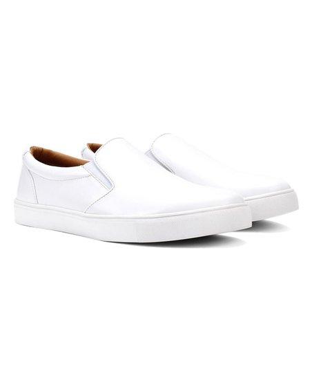 Jaxson White Faux-Leather Slip-On