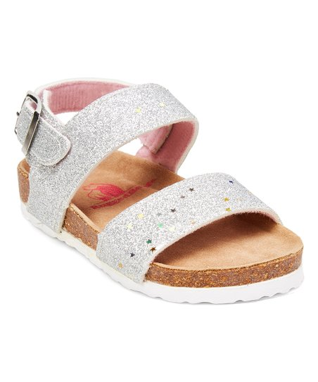 91b20d3f83 love this product Silver Glitter Sandal - Girls