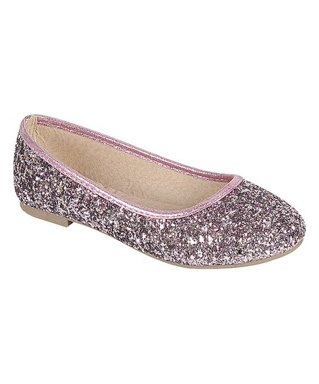641f69d8f love this product Pink Glitter Karra Ballet Flat - Girls