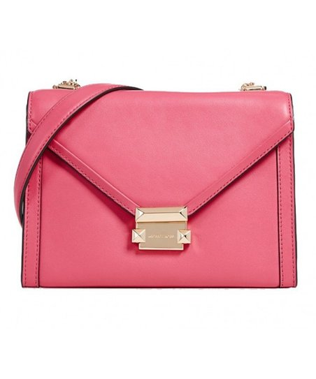 da3b9cf7f56e love this product Rose Pink Whitney Large Leather Shoulder Bag