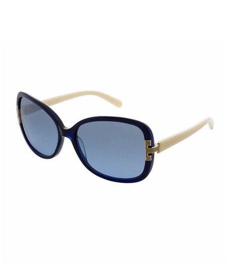 a9c97d42e457 Tory Burch Blue Oval Oversize Sunglasses - Women | Zulily