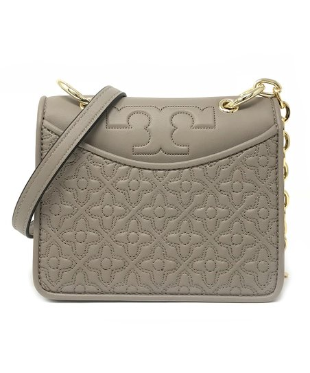 6f5ca31d262 Tory Burch French Gray Bryant Leather Mini Shoulder Bag