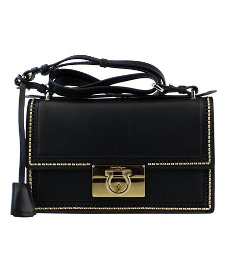 Salvatore Ferragamo Black Ferragamo Aileen Gancio Lock Crossbody Bag ... 3c3dad0fd4875