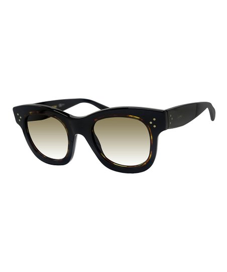 0204d879992 Celine Black Havana   Brown Square Sunglasses