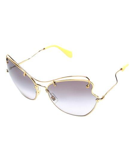 ff97ea0e89a Miu Miu Gold Butterfly Sunglasses