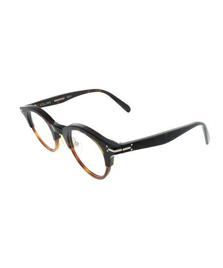 5b34d7d22f5 Celine Dark Havana Brown   Tortoise Half-Rim Eyeglasses