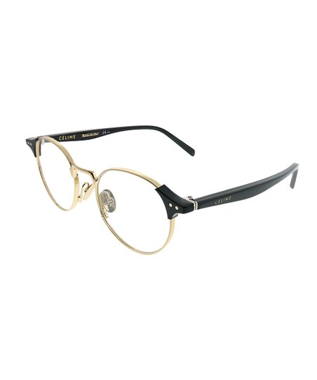 7e6afca50b8 Celine Gold   Black Round Eyeglasses