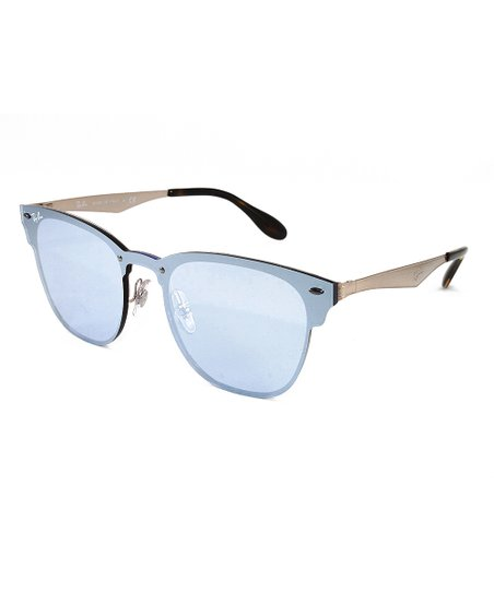 bd8370a026af Ray-Ban Dark Violet   Mint Classic Blaze Clubmaster Sunglasses ...