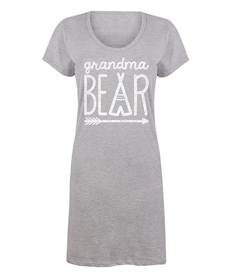 2228f1c5 LC Trendz Women's Athletic Heather 'Grandma Bear' T-Shirt Dress - Women