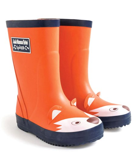 JoJo Maman Bébé Rust Fox Rain Boot - Boys