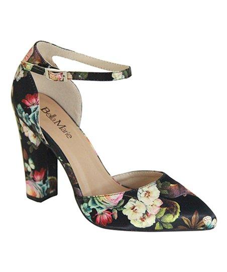3b121945b8c love this product Black Floral Ankle-Strap Dorado Pump - Women