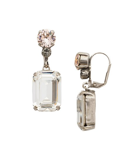 9f388defed5e love this product Pink   Silvertone Rectangle Drop Earrings With Swarovski®  Crystals