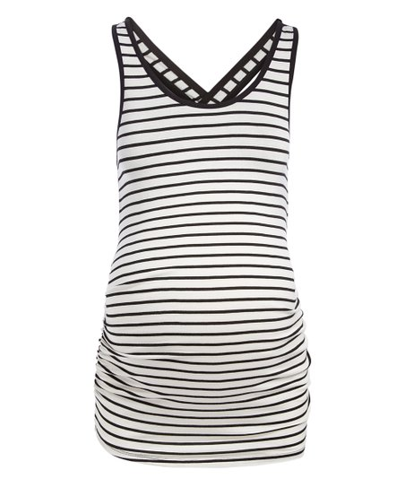 Mom Co Black White Stripe Maternity Tank Best Price And Reviews Zulily