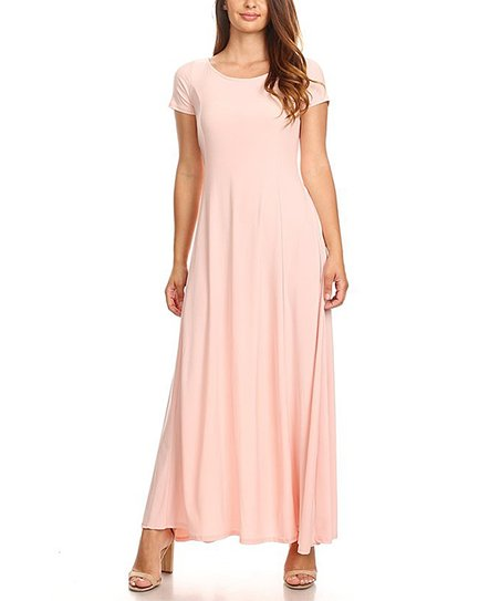 13484ec7aa love this product Light Pink Short-Sleeve Maxi Dress - Women & Plus