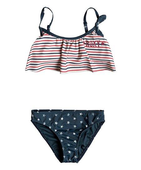 b8f0c4c216 Roxy Dress Blues 4th of July USA Bikini Top & Bottoms - Girls | Zulily