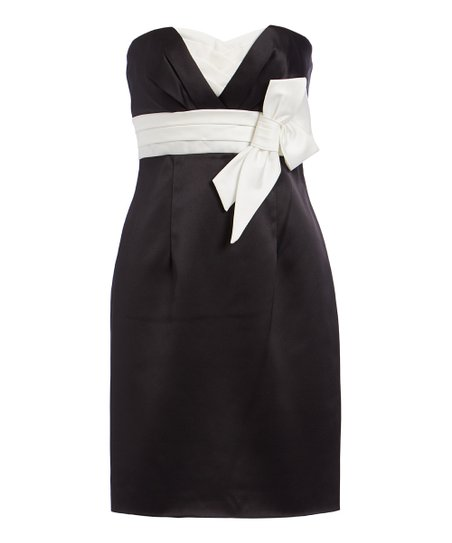 Issue New York Black White Bow Strapless Dress Women Zulily