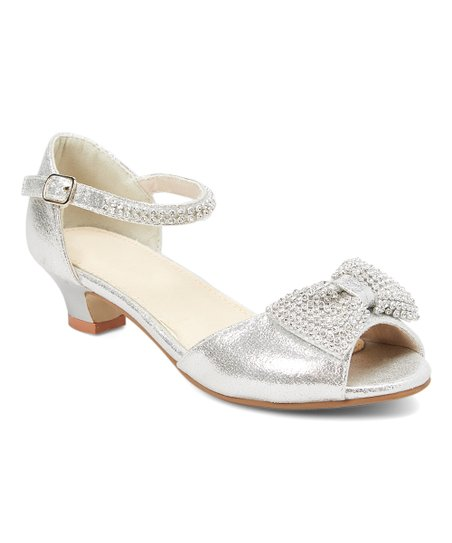 03ccf1778 love this product Silver Bow-Accent Qin Sandal - Girls