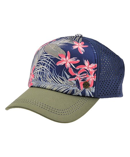 b4993f17c6527 Roxy Dress Blue Tiare Flower Waves Machines Trucker Hat